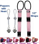 1/2 inch NippleWraps + Poppers with Heart
