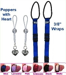 3/8 inch NippleWraps + Poppers with Heart