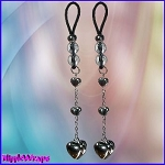 3 Silver Heart Dangle