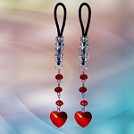 Crystal Heart Dangles