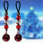 Red Silver Ornaments