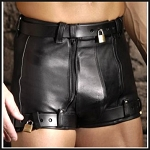 Strict Leather Chastity Shorts